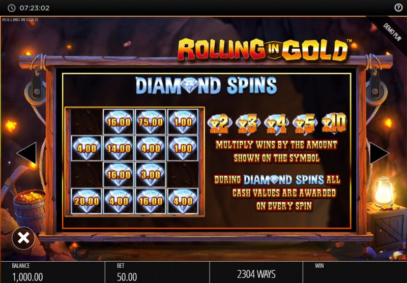 Rolling In Gold :: Diamond Spins