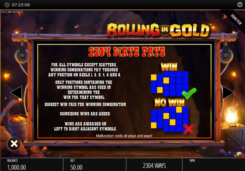 Rolling In Gold :: 2304 Ways to Win