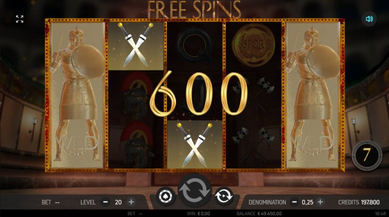 Roman Adventure :: Free Spins Game Board