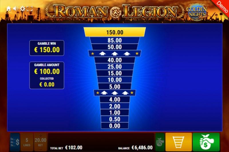Roman Legion Golden Nights Bonus :: Ladder Gamble Feature