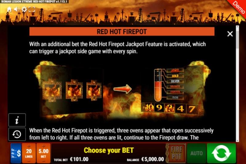 Roman Legion Xtreme Red Hot Fire Pot :: Red Hot Firepot