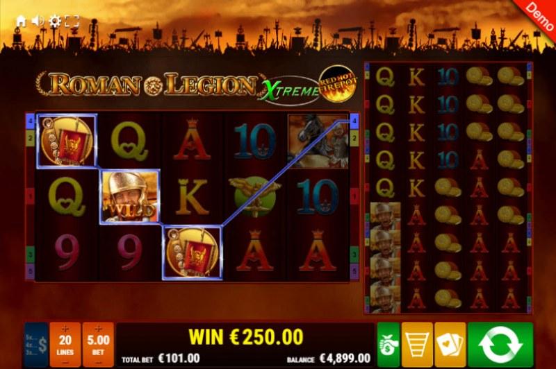 Roman Legion Xtreme Red Hot Fire Pot :: Three of a kind win