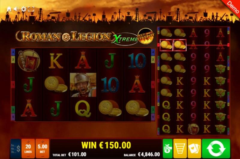 Roman Legion Xtreme Red Hot Fire Pot :: Multiple winning paylines