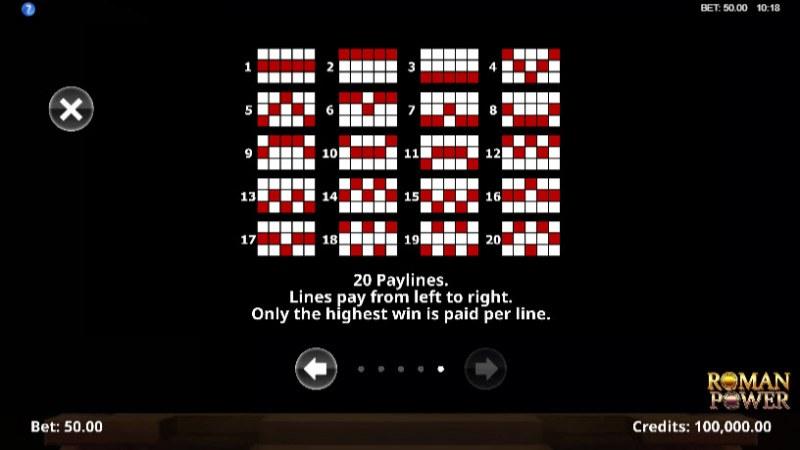 Roman Power :: Paylines 1-25