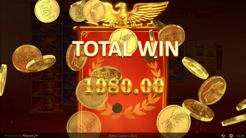 Rome Caesar's Glory :: Total free spins payout