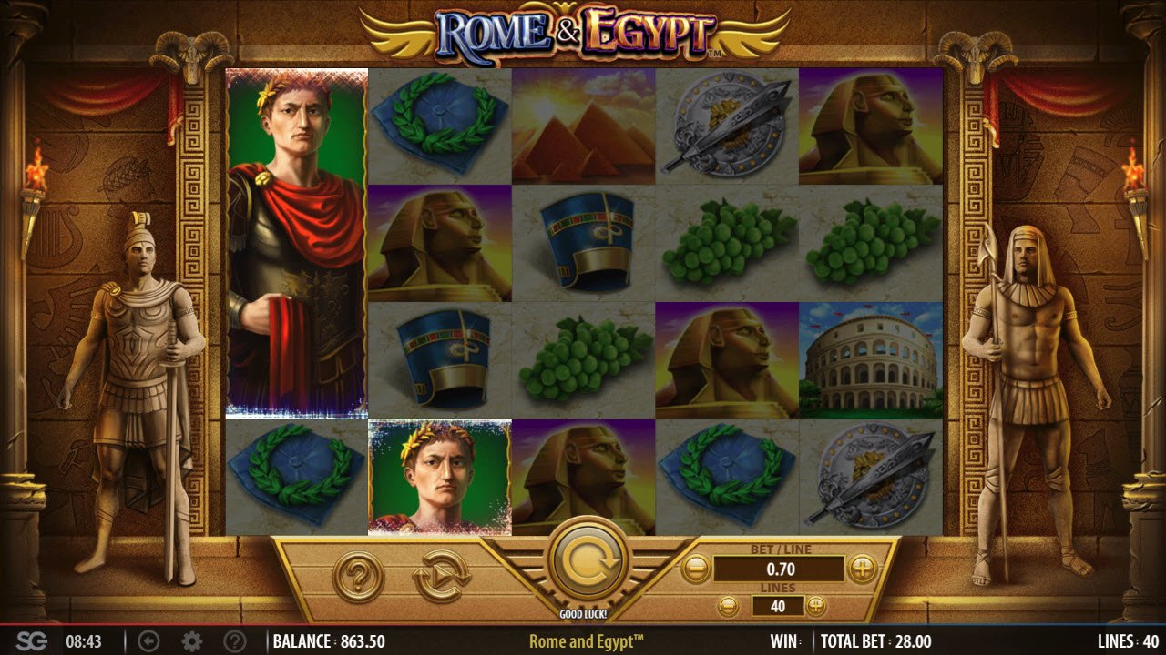 Rome & Egypt :: Wild symbols triggers the free spins feature