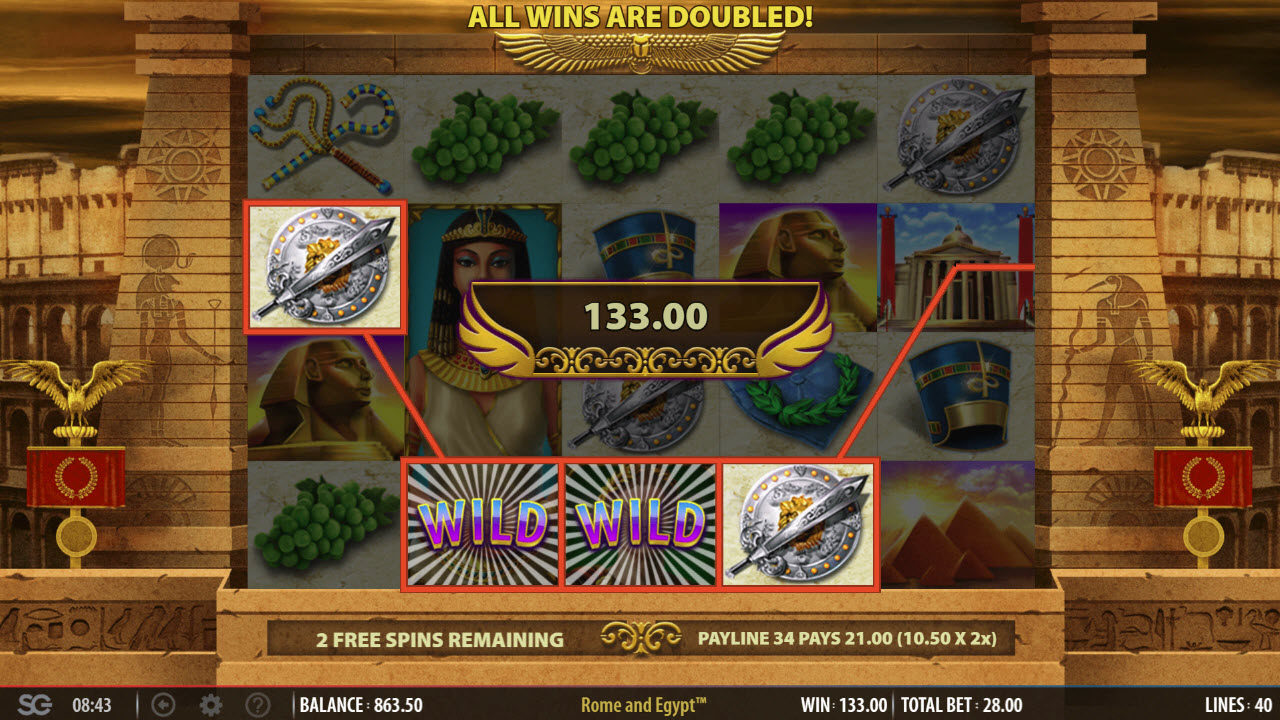 Rome & Egypt :: Free Spins Game Board