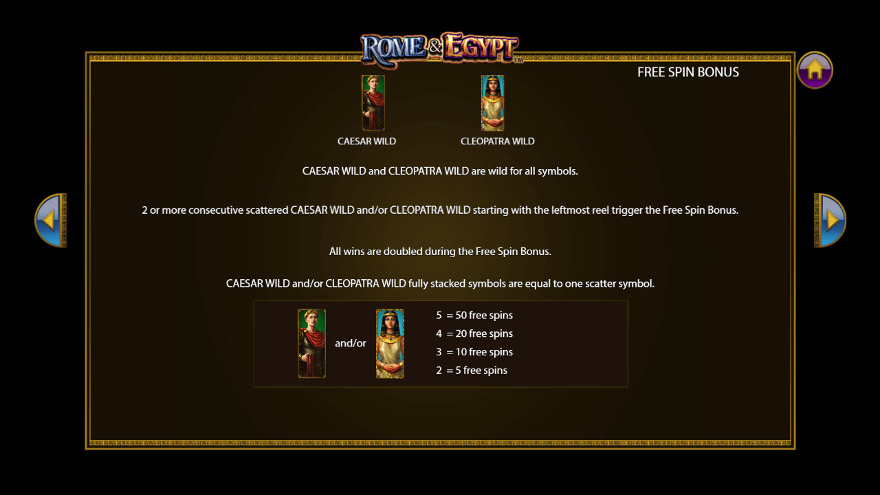 Rome & Egypt :: Feature Rules