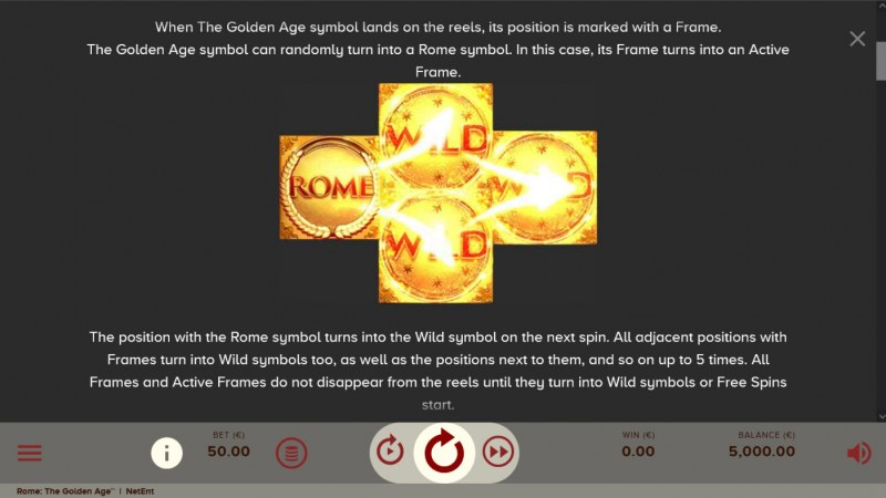 Rome The Golden Age :: Wild Symbol Rules