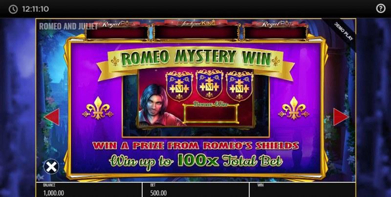Romeo & Juliet Jackpot King :: Mystery Win