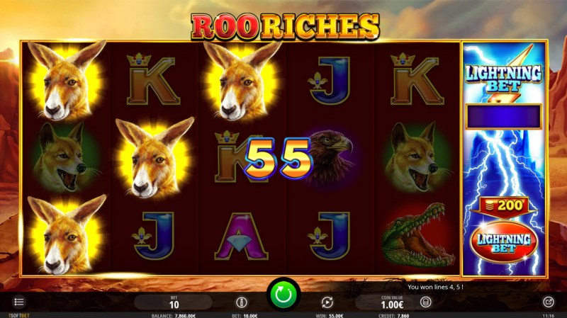 Roo Riches :: Three of a kind win