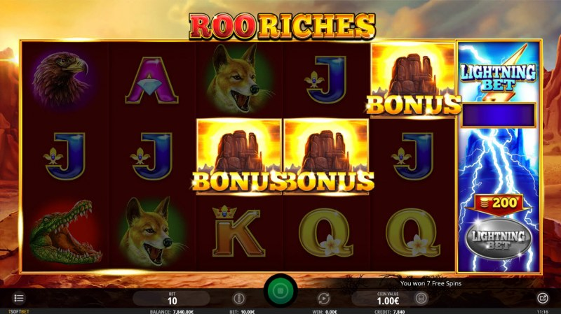 Roo Riches :: Scatter symbols triggers the free spins feature