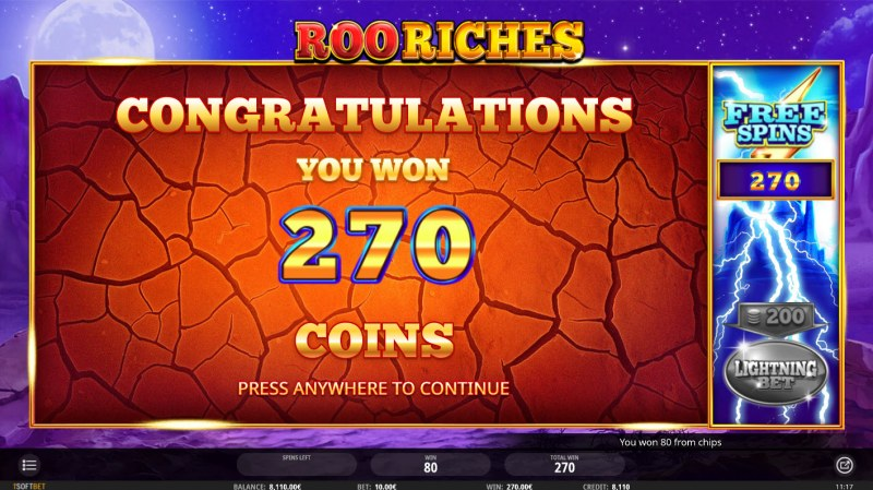Roo Riches :: Total free spins payout