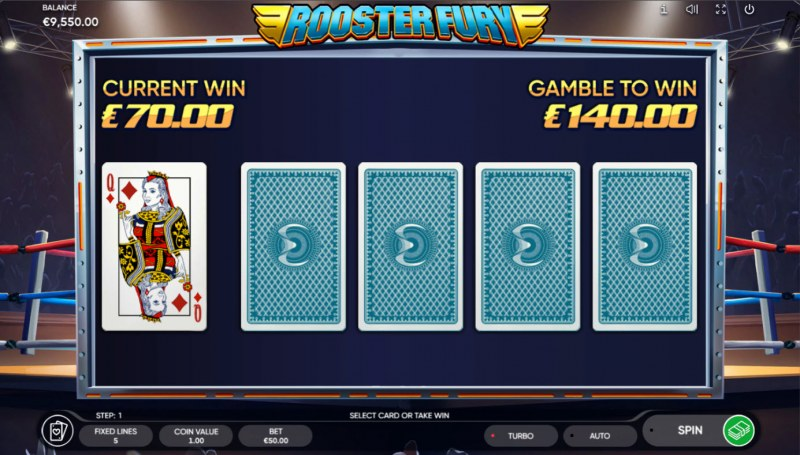 Rooster Fury :: Red or Black Gamble Feature