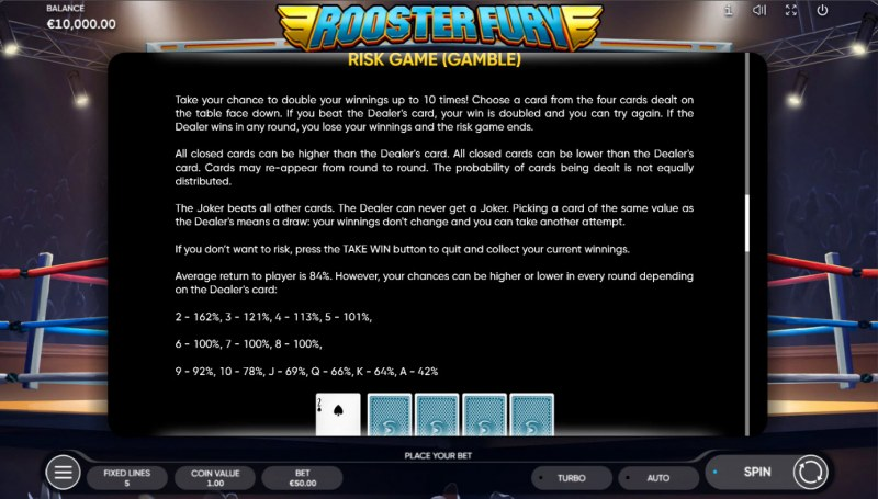 Rooster Fury :: Gamble feature