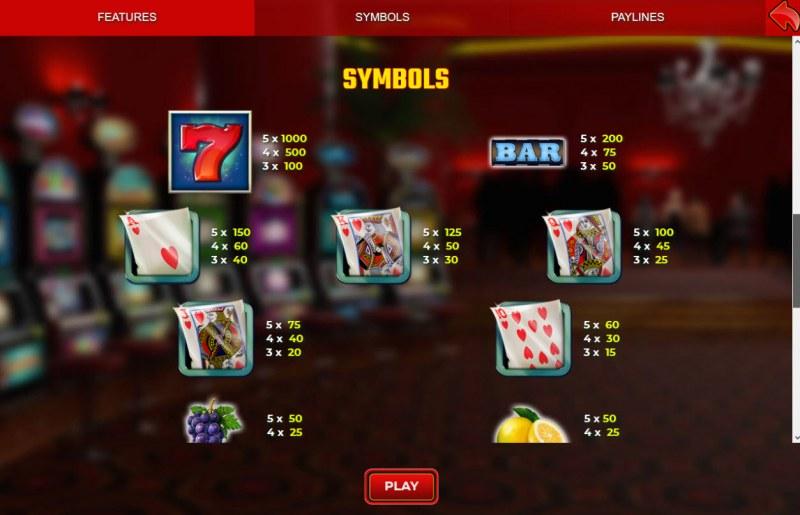 Rosemary :: Paytable - High Value Symbols