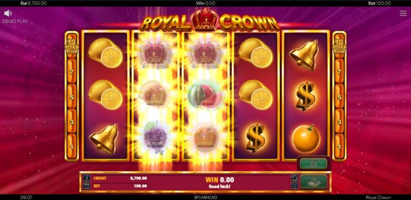 Royal Crown :: Stacked Wild Symbols