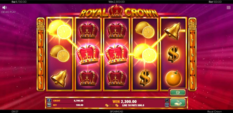 Royal Crown :: Multiple winning paylines