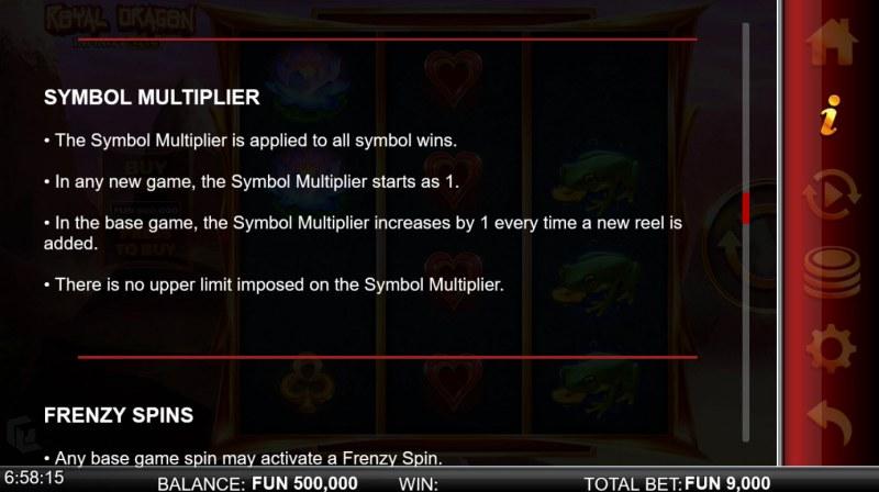 Royal Dragon Infinity Reels :: Symbol Multiplier