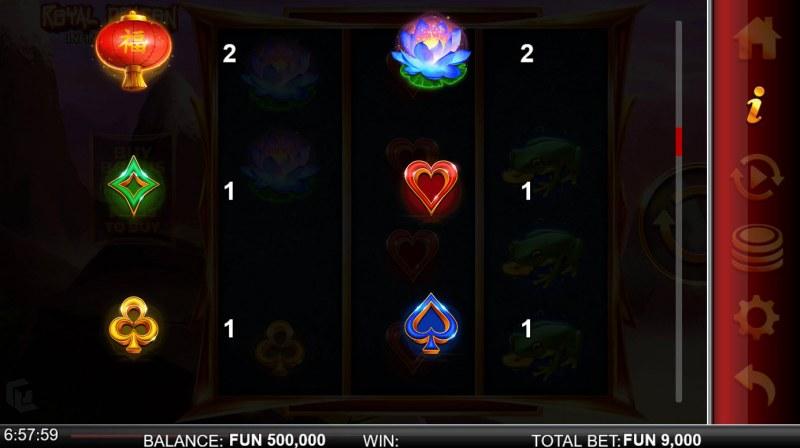 Royal Dragon Infinity Reels :: Paytable - Low Value Symbols