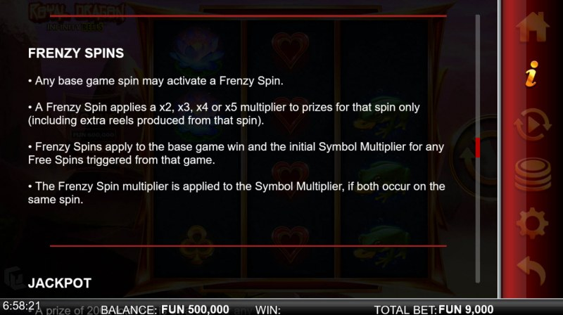 Royal Dragon Infinity Reels :: Frenzy Spins