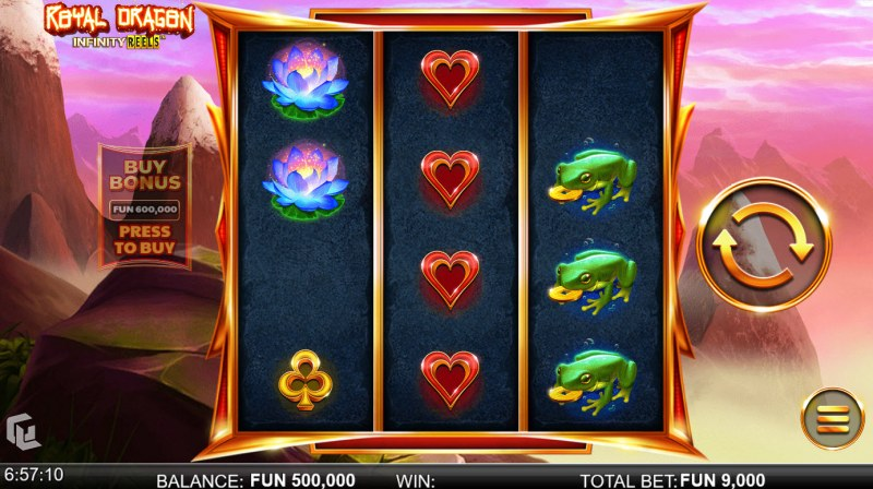 Royal Dragon Infinity Reels :: Main Game Board