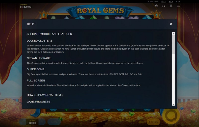 Royal Gems :: General Game Rules