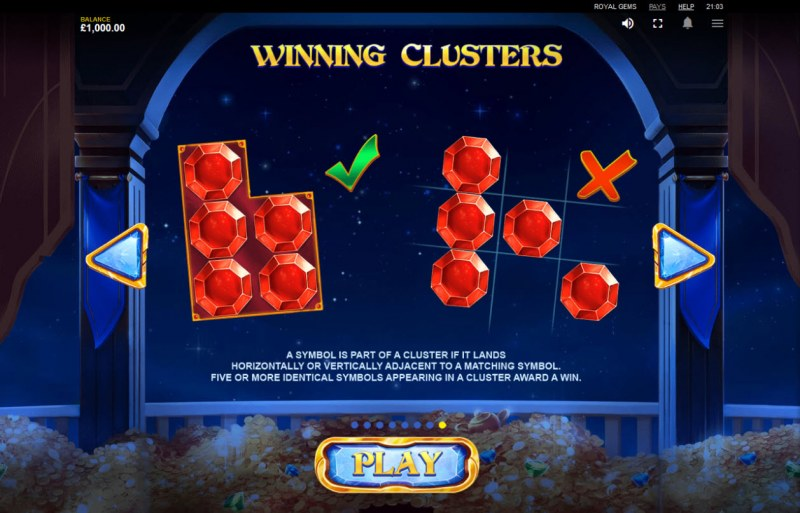 Royal Gems :: Winning Clusters