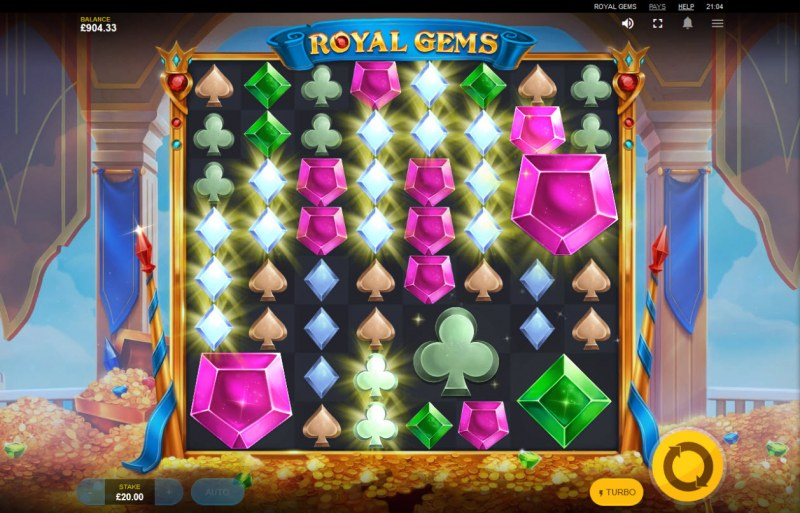 Royal Gems :: Multiple winning combinations