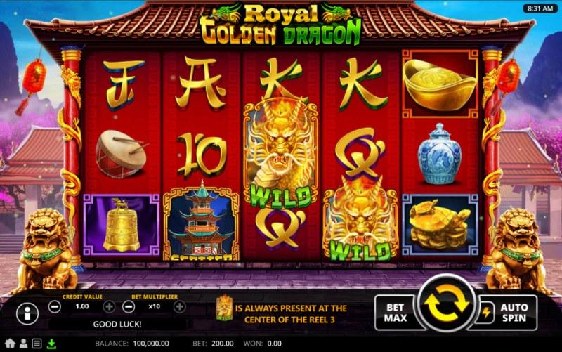 Royal Golden Dragon :: Main Game Board