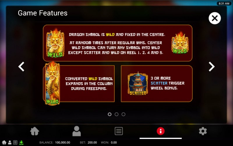 Royal Golden Dragon :: Wild and Scatter Rules