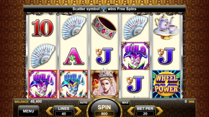Royal Queen :: Scatter symbols triggers the free spins feature