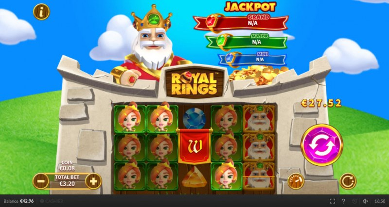 Royal Rings :: Multiple winning paylines