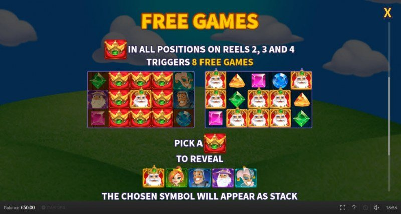 Royal Rings :: Free Spins Rules