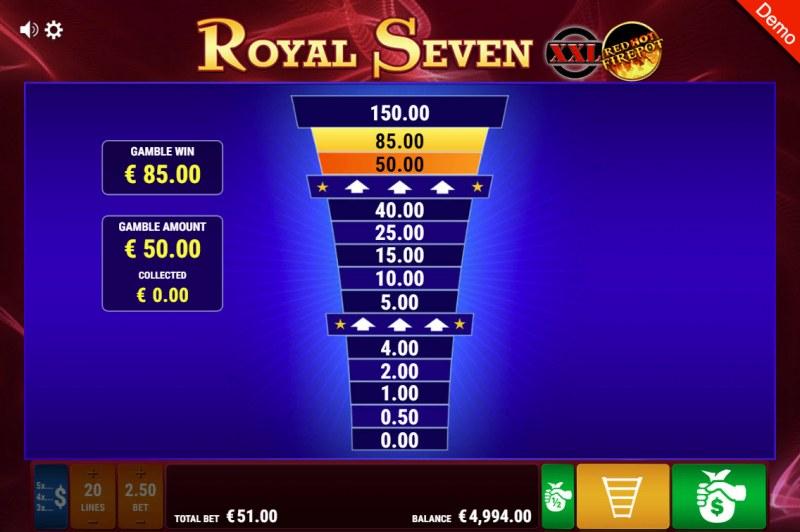 Royal Seven XXL Red Hot Fire Pot :: Ladder Gamble Feature