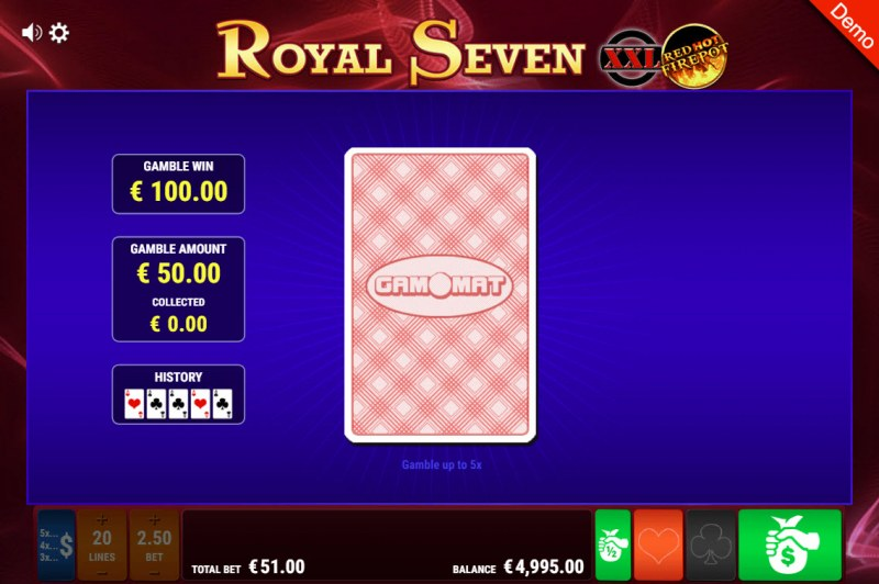 Royal Seven XXL Red Hot Fire Pot :: Black or Red Gamble Feature