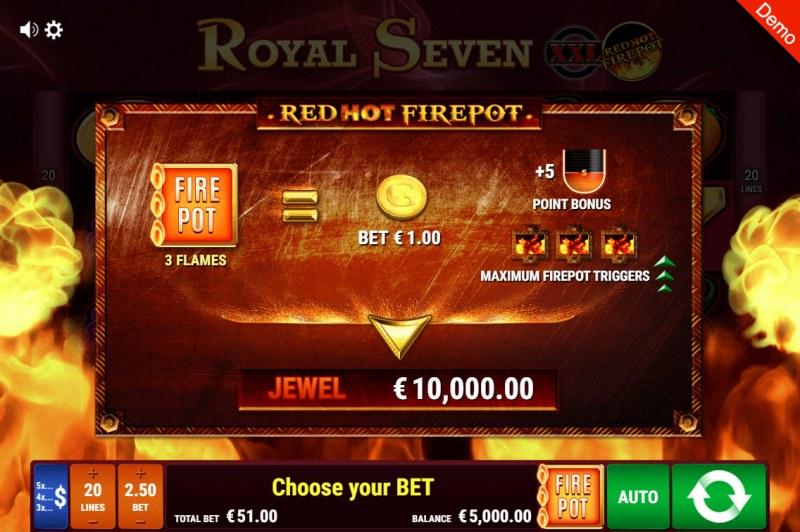 Royal Seven XXL Red Hot Fire Pot :: Activating Fire Pot