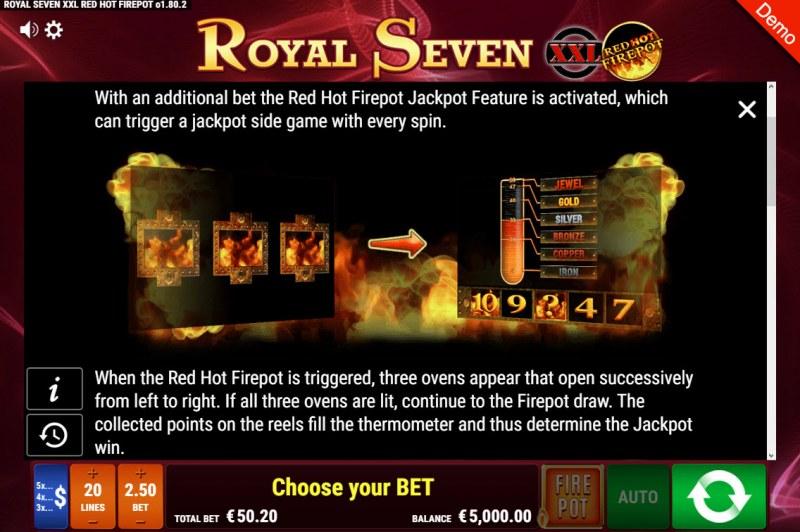 Royal Seven XXL Red Hot Fire Pot :: Jackpot Rules