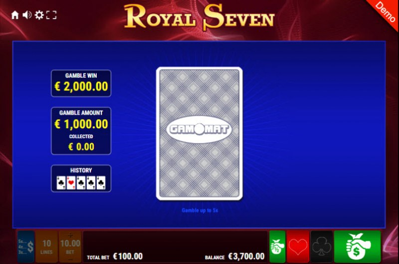 Royal Seven :: Red or Black Gamble Feature