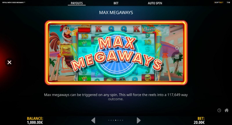 Royale With Cheese Megaways :: Max Megaways