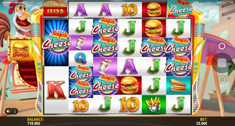 Royale With Cheese Megaways :: Mystery Symbols random appear during any spin
