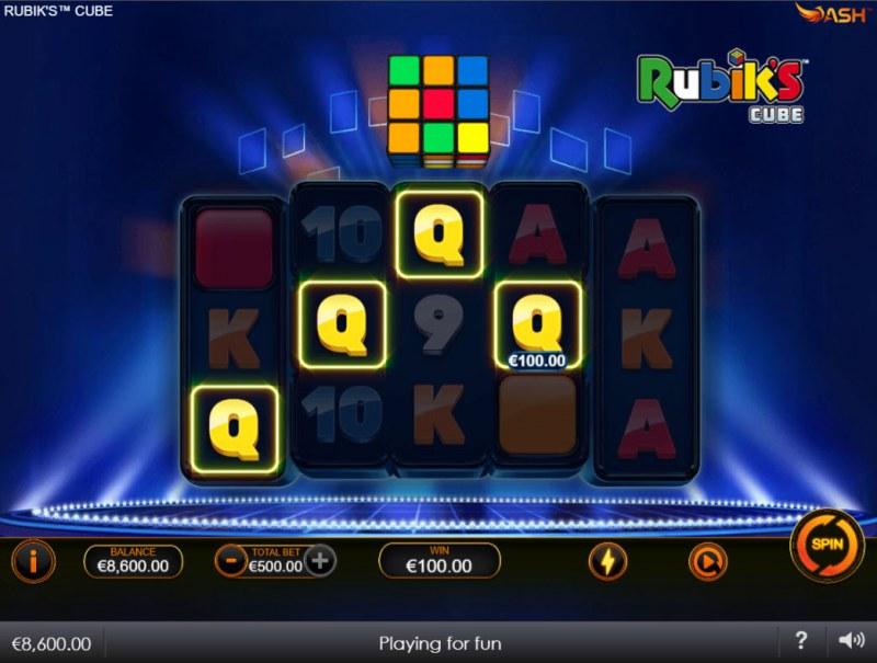 Rubik's Cube :: A four of a kind win