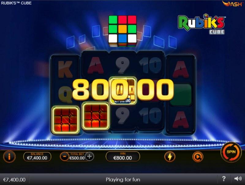 Rubik's Cube :: A three of a kind win