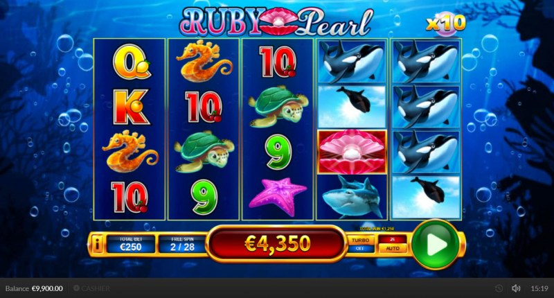 Ruby Pearl :: Free Spins Game Board