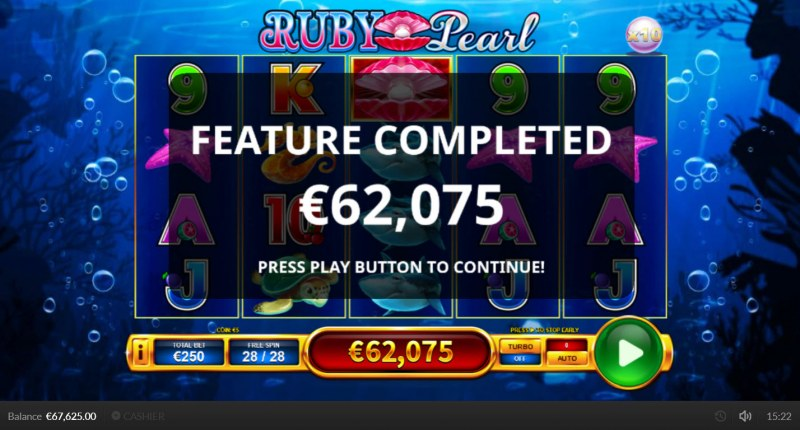 Ruby Pearl :: Total Free Spins Payout