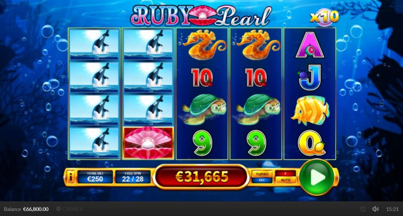 Ruby Pearl :: Multiple winning combinations lead to a big win