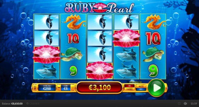 Ruby Pearl :: Scatter symbols triggers the free spins bonus feature