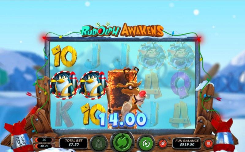 Rudolph Awakens :: Multiple winning paylines
