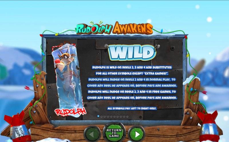 Rudolph Awakens :: Wild Symbol Rules