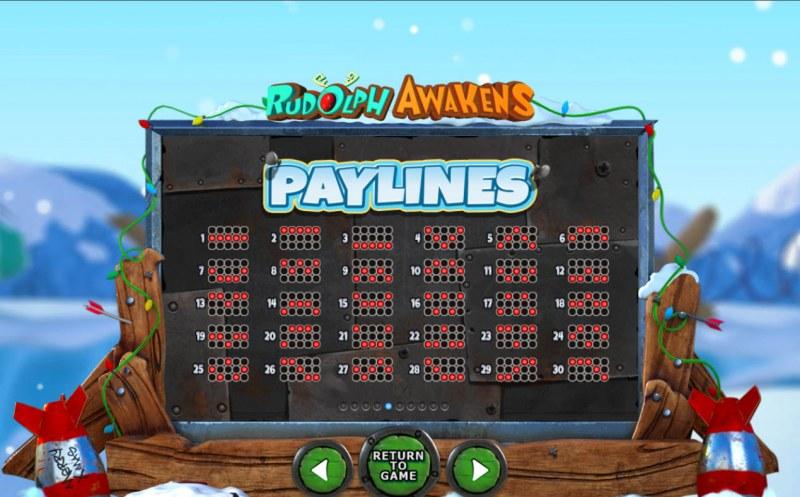 Rudolph Awakens :: Paylines 1-30